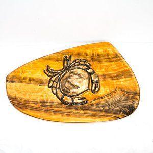 R.D. Desvres Fait Main France Large Crab Platter